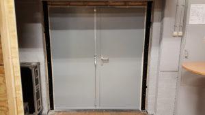 dubbele geluidsisolerende deuren binnenzijde