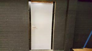 geluidsisolerende enkele deur binnenzijde