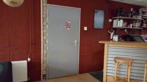 geluidsisolerende enkele deur buitenzijde