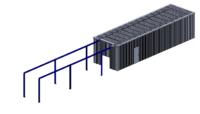 Geluidswerende omkasting met afneembaar dak